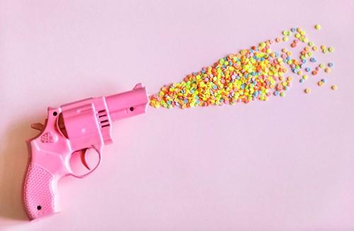 şeker saçan tabanca