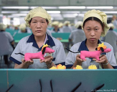 chińscy robotnicy